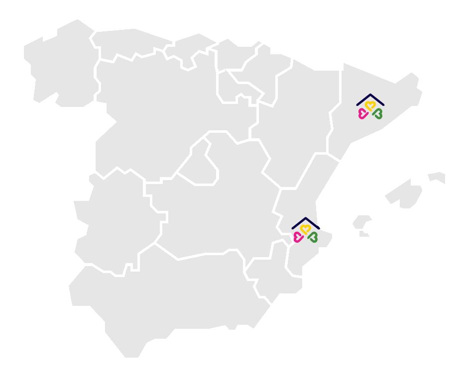 mapa cohousings españa